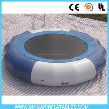 Large crazy inflatable water toys water trampoline inflatable trampoline for the lake