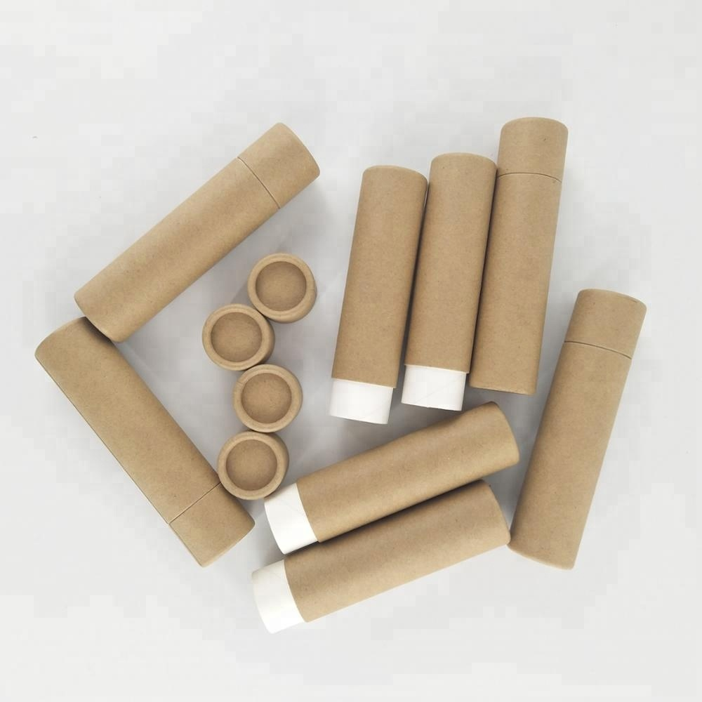 Biodegradable cardboard cosmetic paper <strong>tube</strong> for lip balm
