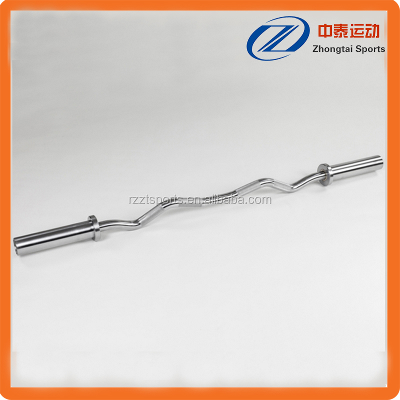 Firstly quality OB ez curved barbell bar for crossfit