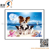 Lenticular printing 3D PP/PET plastic sheet pictures of lovely dog series