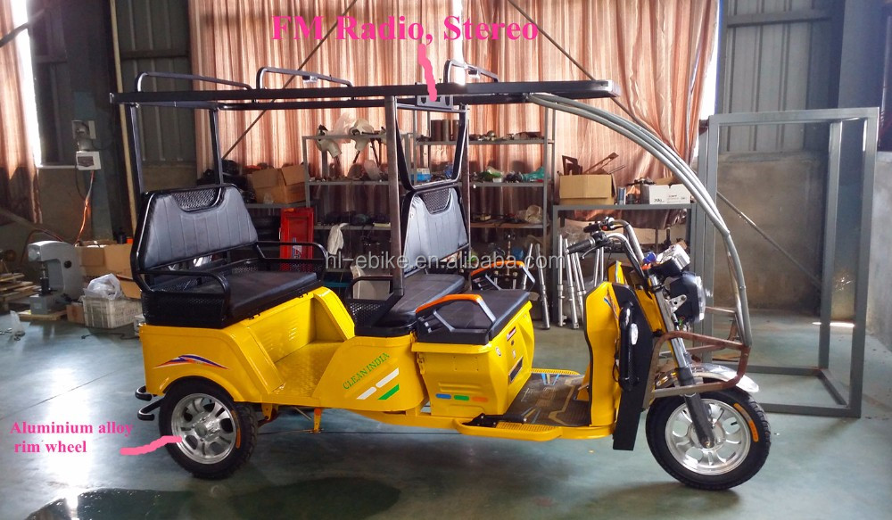 ICAT Passengers battery powered tricycles/auto rickshaw/tuk tuk in delhi bajaj for hot sale 2100001