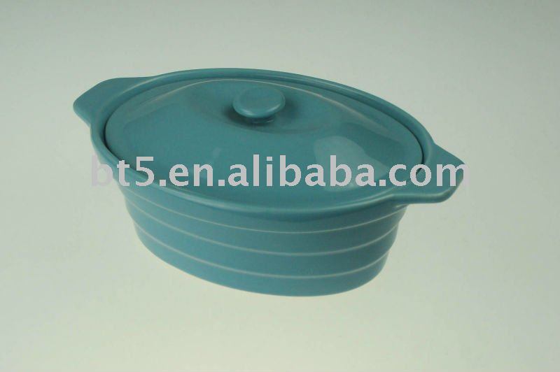Ceramic Oval shape mini cocotte