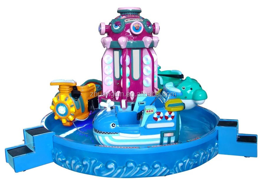 Three seaters revolving rider on Octopus Seaplane for amusement park
