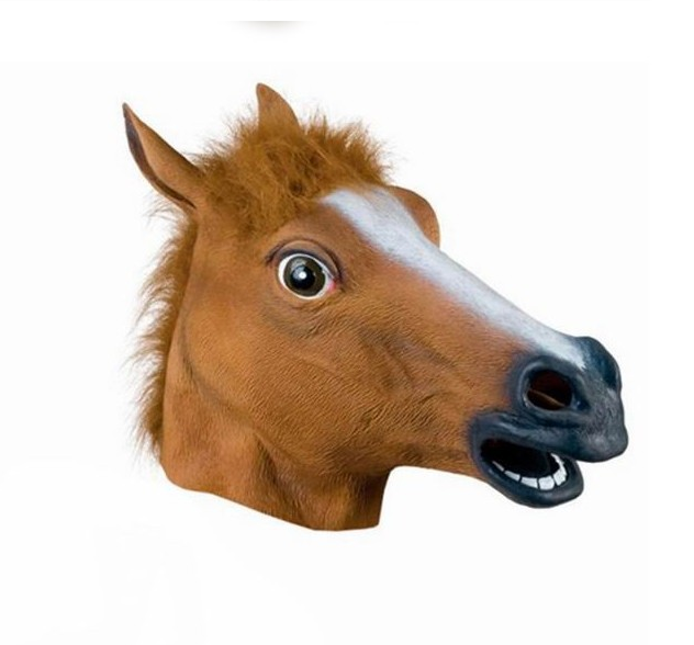 PM-004 Wholesale high quality Halloween party latex horse head mask