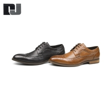 High quality classy ventilation men leather dress shoes styles