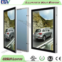 Outdoor waterproof light box with picture frame advertising billboard