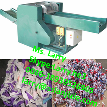 textile cutting machine/used rag cutter machine/waste cloth recycling machine