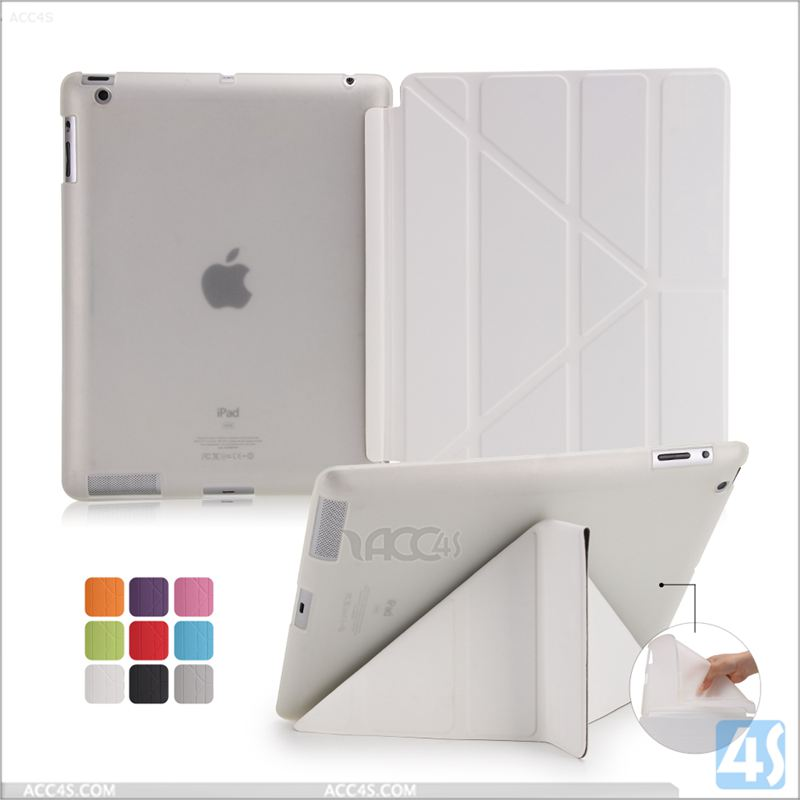 PU Leather Stand Transform Case for APPLE iPad 4/3/2