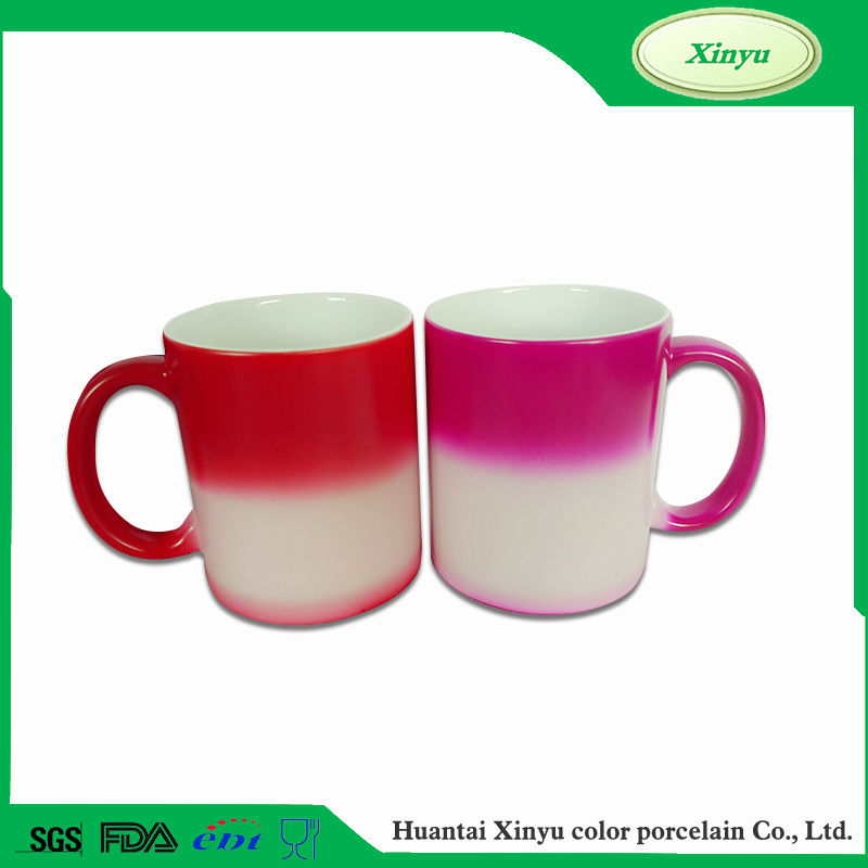 Cheap cup change color hot color change keep coffee mug