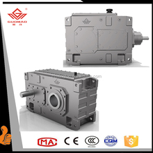 Iso,Ce Certificated Factory High Torque Low Noise Hb Series Heavy Duty Helical Industrial Bevel Vertical Gearbox