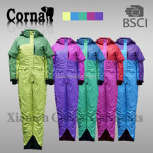 winter padding polyester one piece snow suits adults
