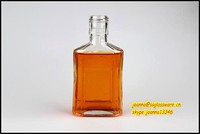 120ml rectangular clear glass material wine use bottle drinking bottle &Tequila bottle