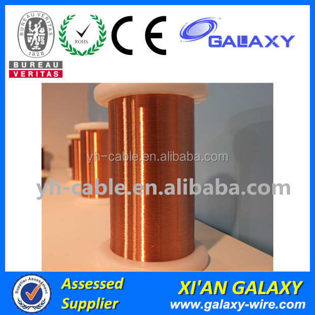 Double Coating AWG45 Enameled Copper Wire Polyurethane 0.045 mm Copper Wire