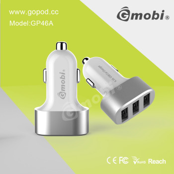 Brilliant 3 Port Car Charger OEM Supported Made For Universal Digital Devices