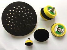 Rubber polishing plastic backing sanding disc pad velcro attachment stype