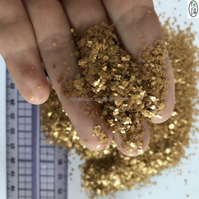1-2mm bulk metallic mica flakes with white, gold, black, red, green colors