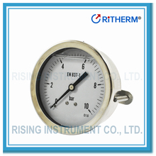 Ritherm bourdon tube Liquid Filled Pressure Gauge with U-clamp