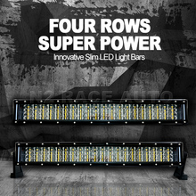 N2 factory 72w 240w 120w 288w 300w CREes dual row curved 4d led light bar, led light bar off road ,atvs,auto parts