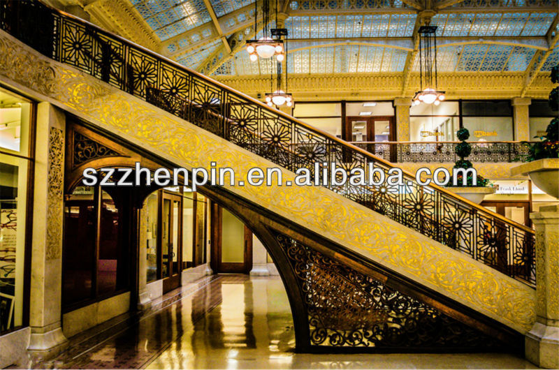 Iron steel Straight Staircase stair stringer