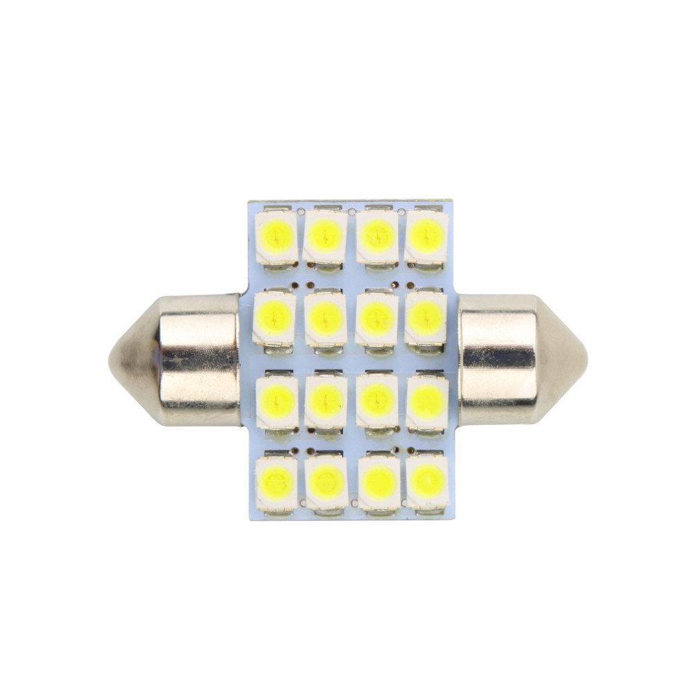 16 SMD LED 1210 31mm Car Warm White Interior Dome Festoon Bulb Light Lamp DC 12V C5W Reading Lights Bulb Lamp