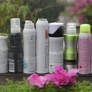 Made in China empty aluminum aerosol can for cosmetic