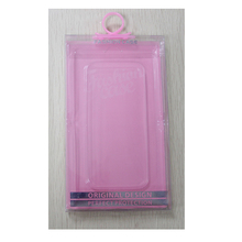 Low MOQ PVC Mobile Retail Packaging Custom Logo Universal Phone Case Package Plastic Box