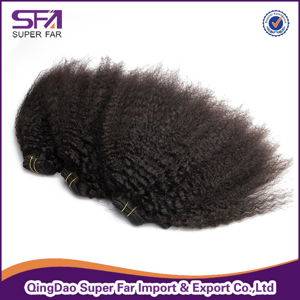 7A Brazilian Unprocessed Virgin Hair Extension Different Types Of Curly Weave Hair Bundles
