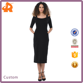 custom make plain black girls' dress,women's sexy tight dress porn