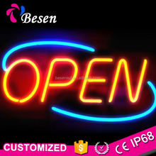 New Design Custom Iteam Table Light Open Letter Led Neon Sign