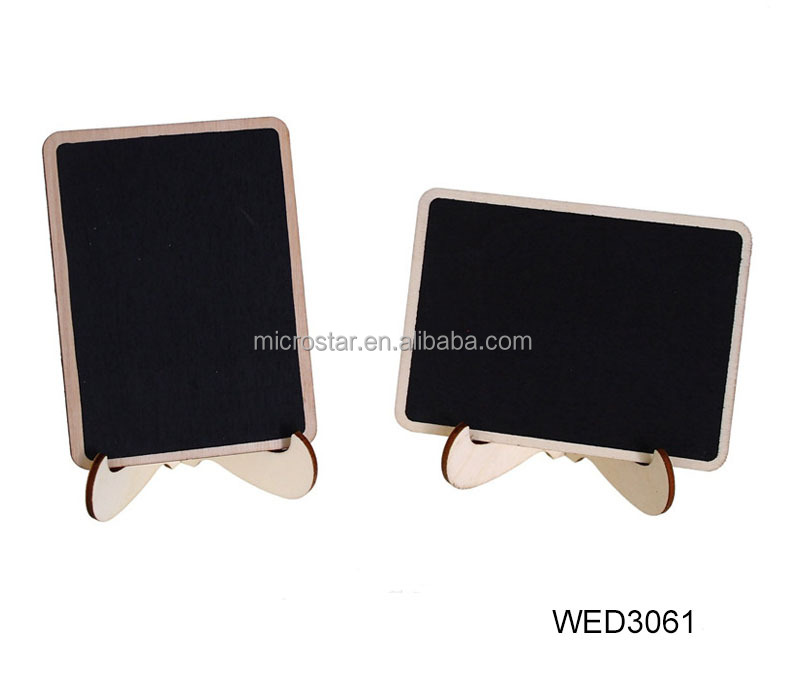 Mini Wooden Blackboard Chalkboard Message Wedding Party Labels Table Decoration