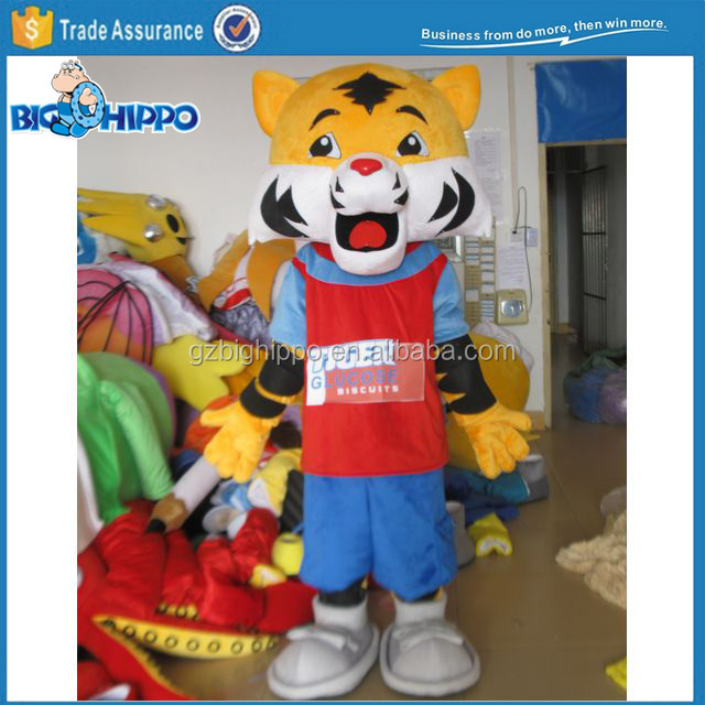 Customized Animal Character Tiger Mascot Costume