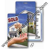 Lenticular luggage tag Gift Souvenir with real estate realtor hands sold keys to buyer of house