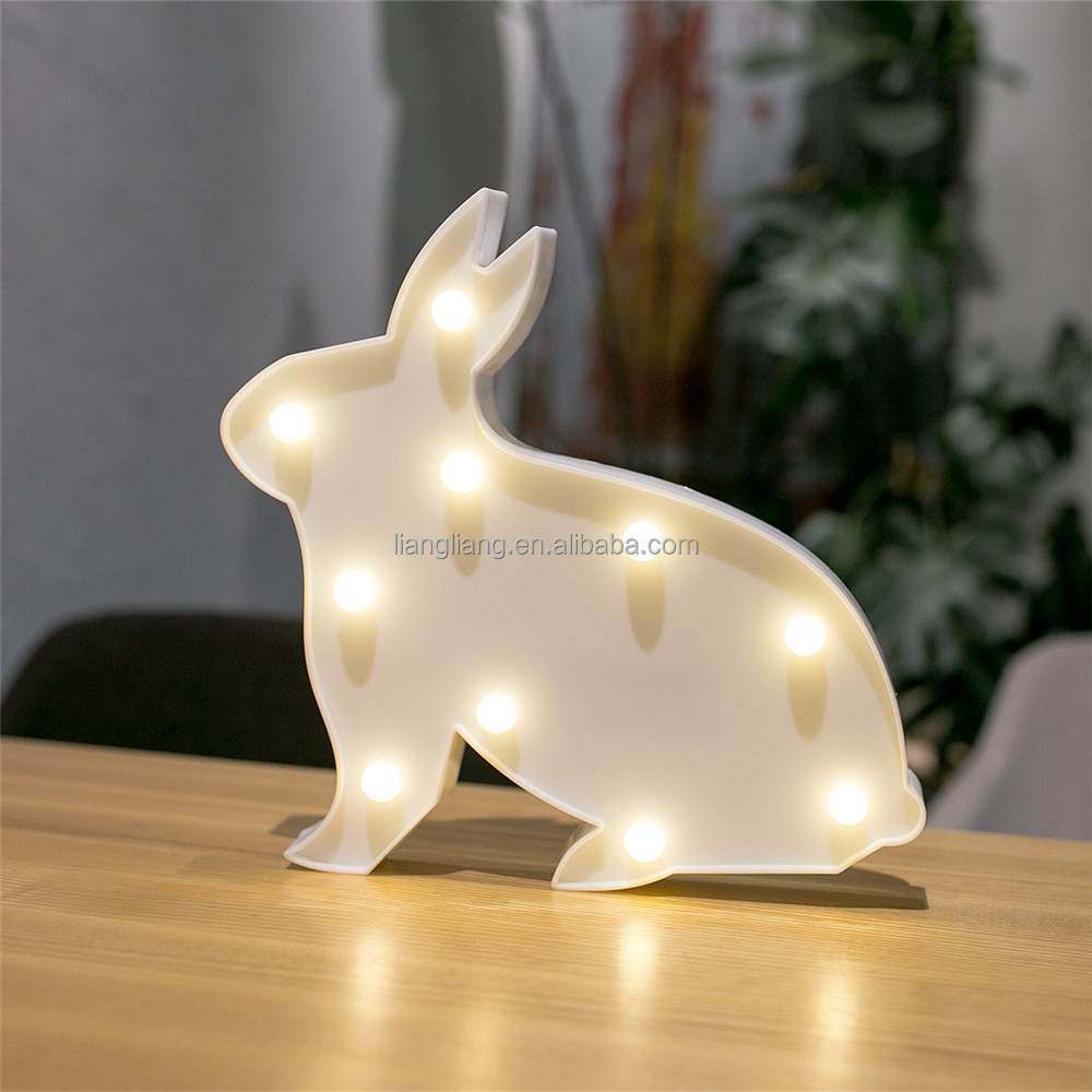 home decorative promotional hot selling rabbit led marquee light