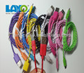 1m 1.5m 2ft 2m colorful fabric braided micro usb cable