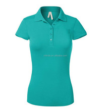 custom cotton polyster blend polo shirt wholesale for america women summer plus size polo t-shirt with embroidered logo