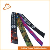 Various color polyester glue printed webbing strap of bags