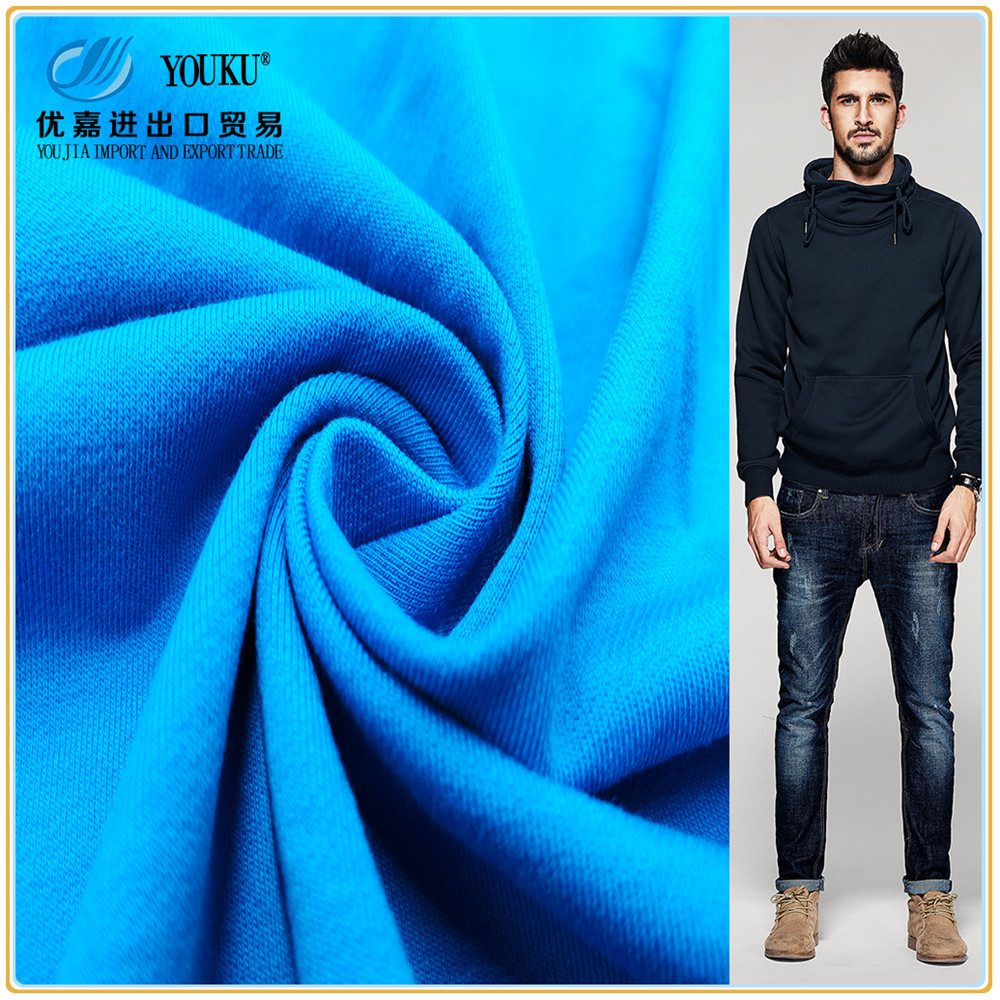 100% cotton spandex looped pile cotton french terry twill knit fabric wholesale for sportswear