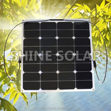 2014 new flexible solar panel 50w for iPhone and iPad directly under the sunshine