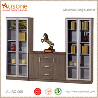 3 drawer mirrored mdf file cabinet
