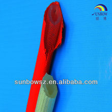 UL&CSA certification silicone rubber fiberglass sleeving with excellent electrical and mechanical strength properties