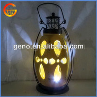 Hot Sale!!! Beautiful shiny metal handle ceramic lantern