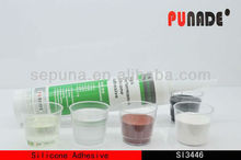 Fast heating cured one component organic silicone adhesive
