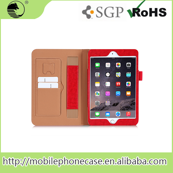 Good Touching Feeling High Quality PU Tablet Cover Flip Leather Case For ipad Mini 4 Tablet Case