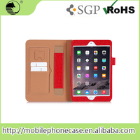 Oem Service Manufacture RED PU Tablet Cover Flip Leather Case For ipad Mini 4 Tablet Case