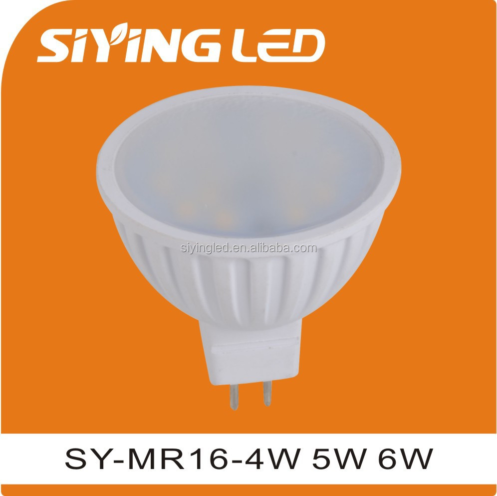 2016 hot spotlight type and plastic lamp MR16 GU10 based LED lighting AC/DC 12V