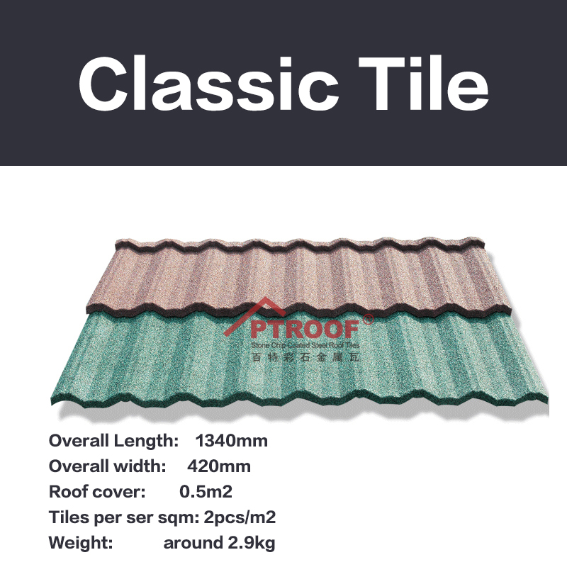terrabella classic stone coated metal roof tile/building material in china supplier