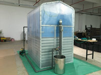 50/100 heads of Cow manure treatment portable biogas plant