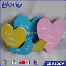 New Custom Lacquer Different Colors Wood Heart Craft Shape Design Art Minds Wooden Crafts Plaques