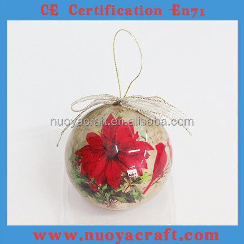 High-end glossy surface christmas ball custom, use for souvenir/gift/promotion gift