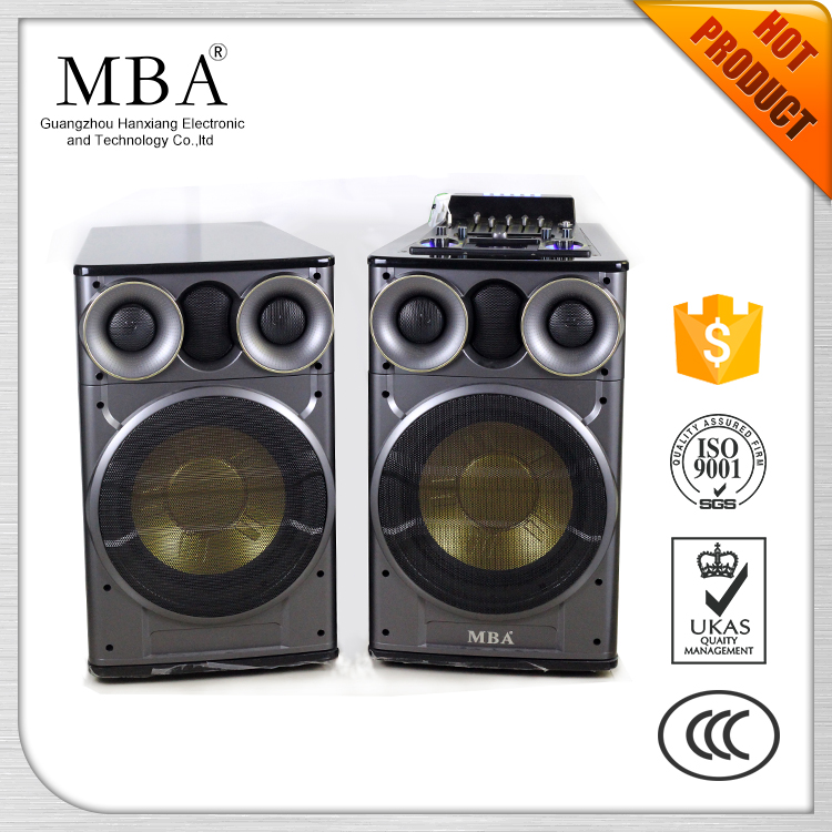 Double 12 Inch Woofer 2.0 Professional Active Stage Speaker